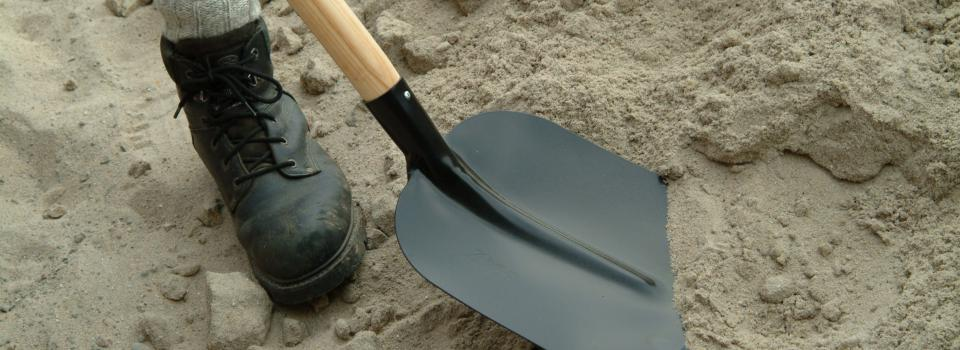 Our assortment of shovels
